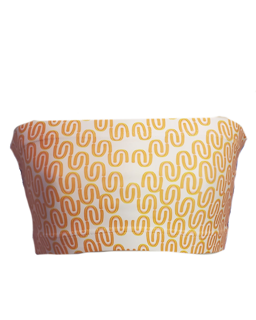 Yellow Light Negative Image Bandeau Top