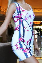 Load image into Gallery viewer, Cherry Blossom Tree Short Bodycon Dress