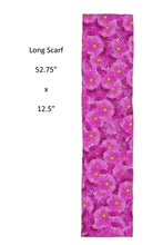 Load image into Gallery viewer, Violet Flowers Scarf