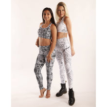 Load image into Gallery viewer, Black and White Light Painting Yoga Leggings