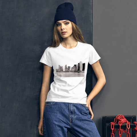 New York City Skyline in Black and White T-shirt
