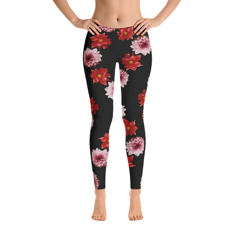 Leggings Pink and Red Flowers
