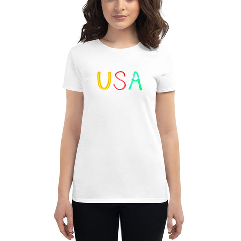 T- Shirt USA Light Painting