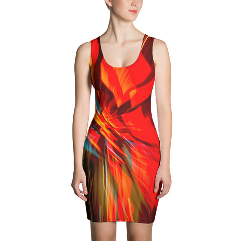 Short Bodycon Dress Cal Trans HQ Light Display
