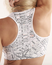 Load image into Gallery viewer, Light Painting Black and White Padded Sports Bra