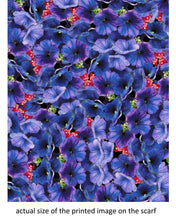 Load image into Gallery viewer, Purple Flowers Scarf