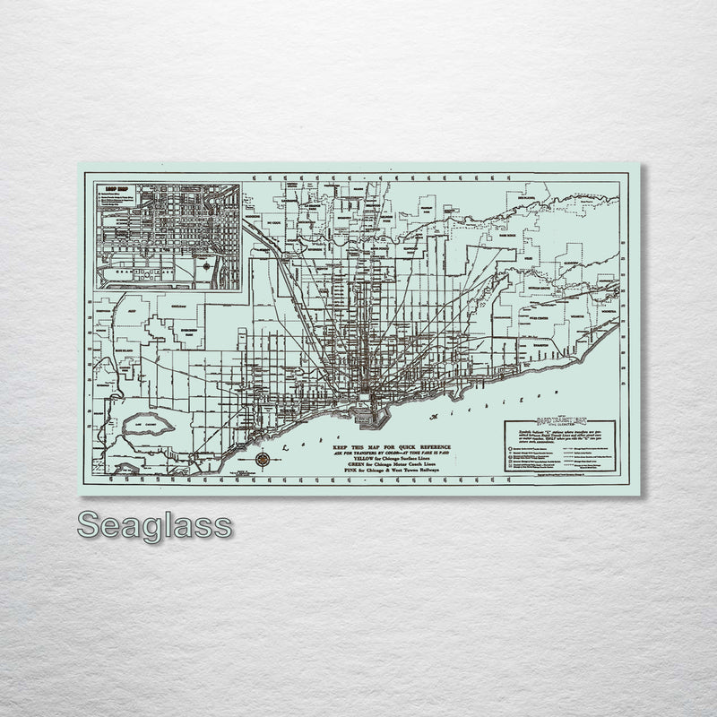 Chicago, Illinois Loop Map
