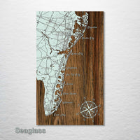 Atlantic City, NJ to Cape May, NJ Whimsical Map - Fire & Pine