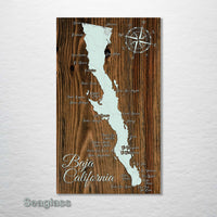 Baja California, Mexico Whimsical Map - Fire & Pine