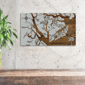 City of Beaufort, South Carolina Whimsical Map - Fire & Pine