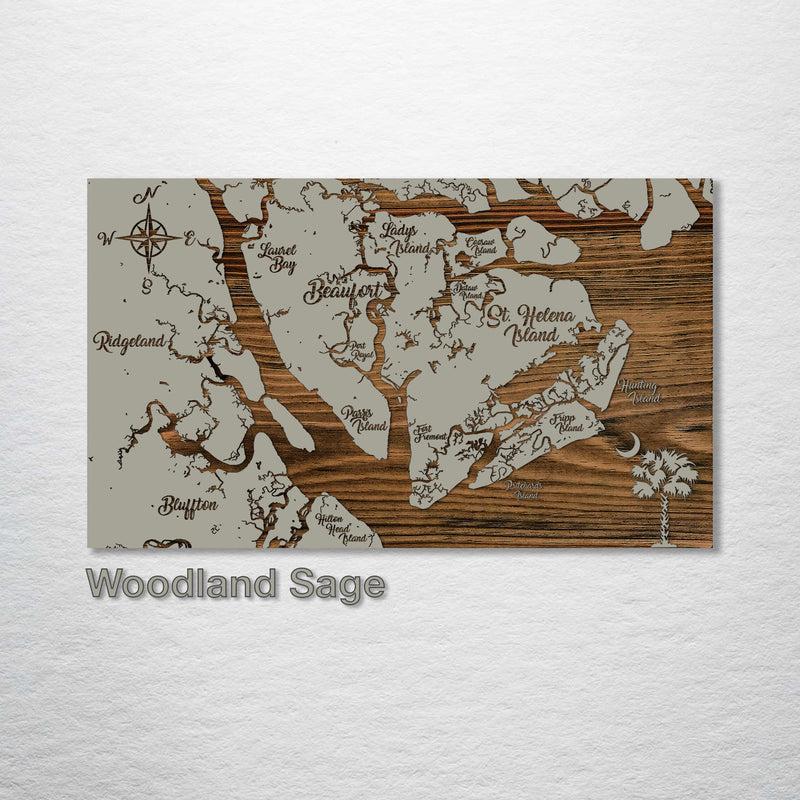 City of Beaufort, South Carolina Whimsical Map