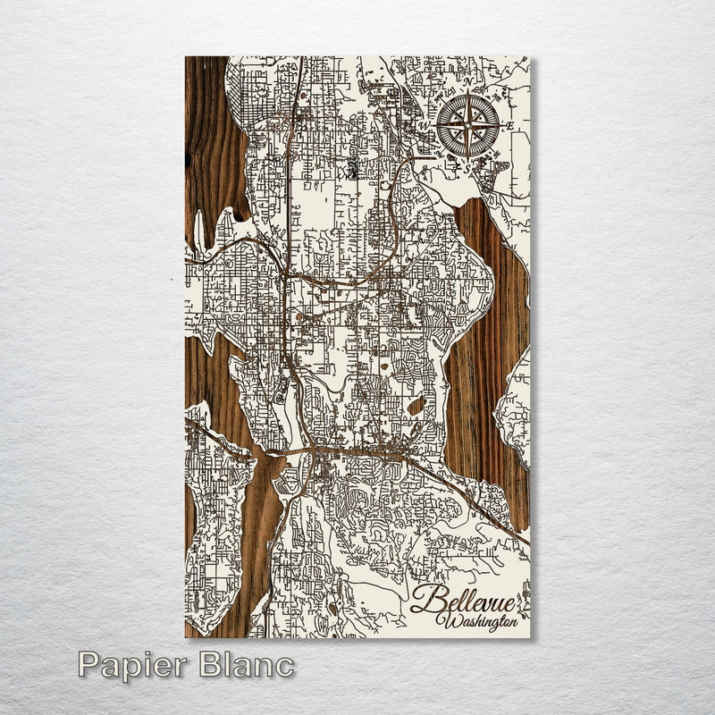 Bellevue, Washington Street Map - Fire & Pine