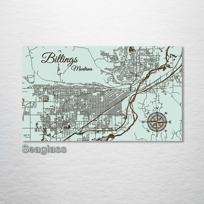 Billings, Montana Street Map - Fire & Pine
