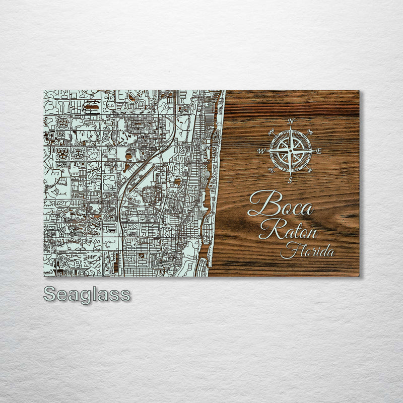 Boca Raton, Florida Street Map - Fire & Pine