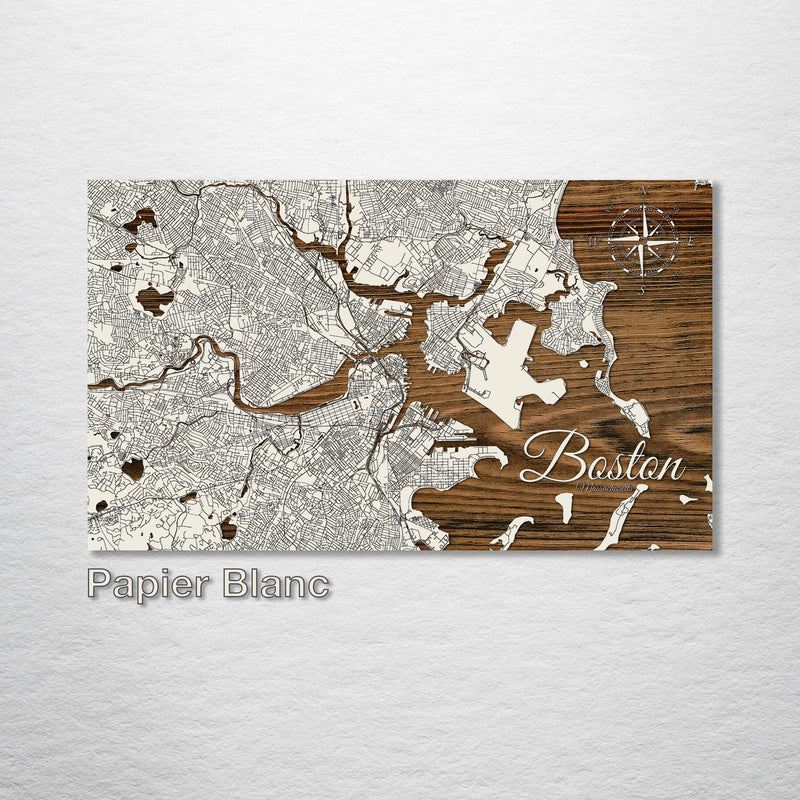 Boston Massachusetts Street Map - Fire & Pine