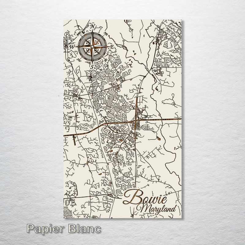 Bowie, Maryland Street Map - Fire & Pine