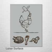 Butcher Abstract - Chicken