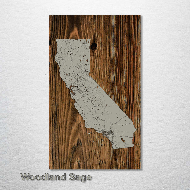California Isolated Map - Fire & Pine