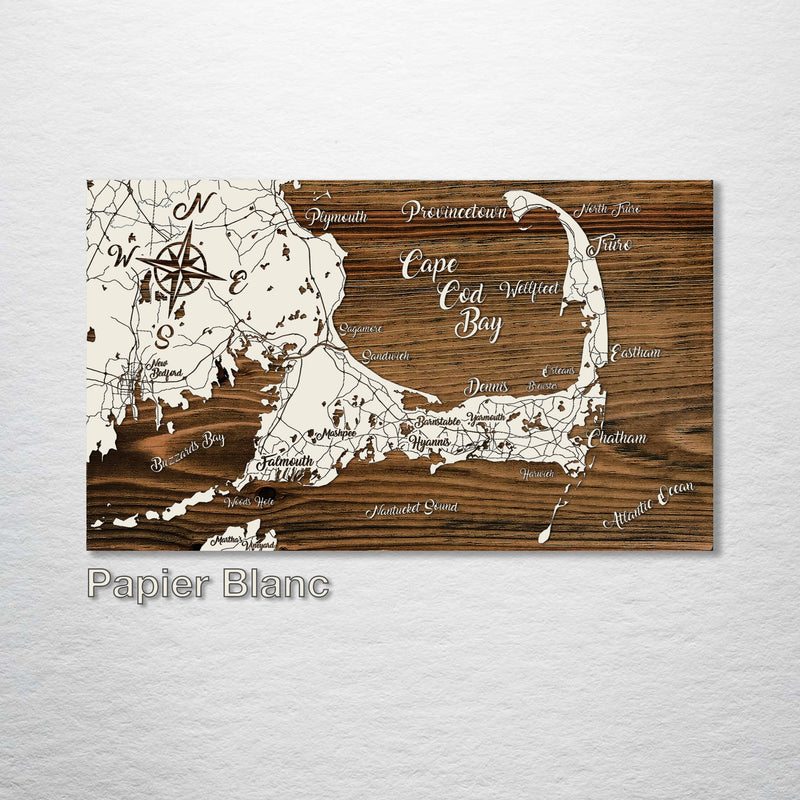 Cape Cod Bay, Massachusetts Whimsical Map - Fire & Pine