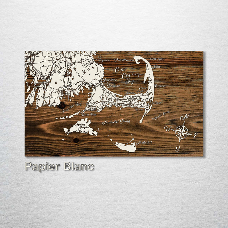 Cape Cod to Nantucket, MA Whimsical Map - Fire & Pine