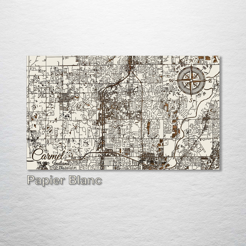Carmel, Indiana Street Map - Fire & Pine