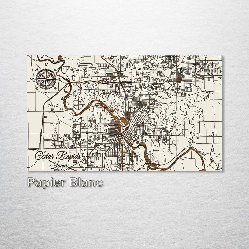 Cedar Rapids, Iowa Street Map - Fire & Pine