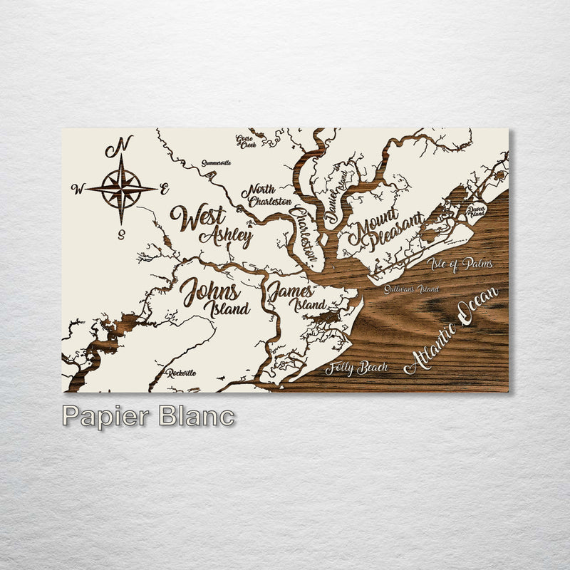 Charleston, South Carolina Whimsical Map - Fire & Pine
