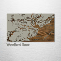 Charleston to Kiawah, South Carolina Whimsical Map