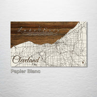 Cleveland, Ohio Street Map - Fire & Pine