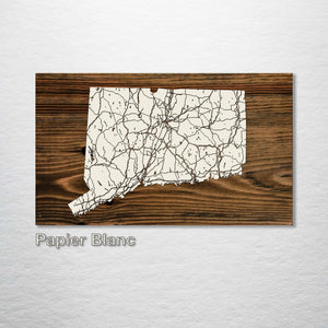 Connecticut Isolated Map - Fire & Pine