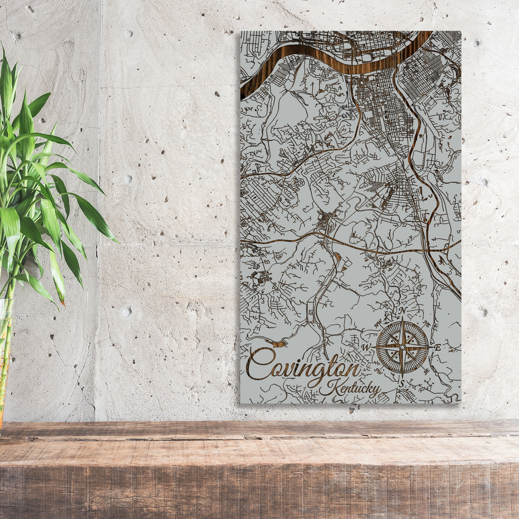 Covington, Kentucky Street Map - Fire & Pine