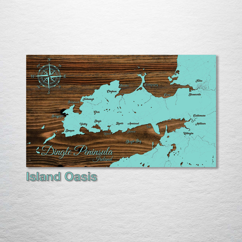Dingle Peninsula, Ireland Whimsical Map - Fire & Pine