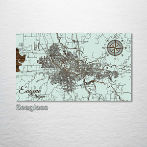 Eugene, Oregon Street Map - Fire & Pine