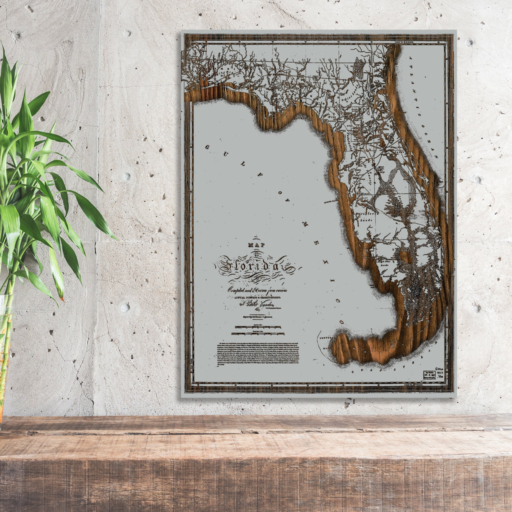 Historic Map of Florida 1823 - Fire & Pine