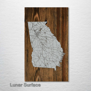 Georgia Isolated Map - Fire & Pine