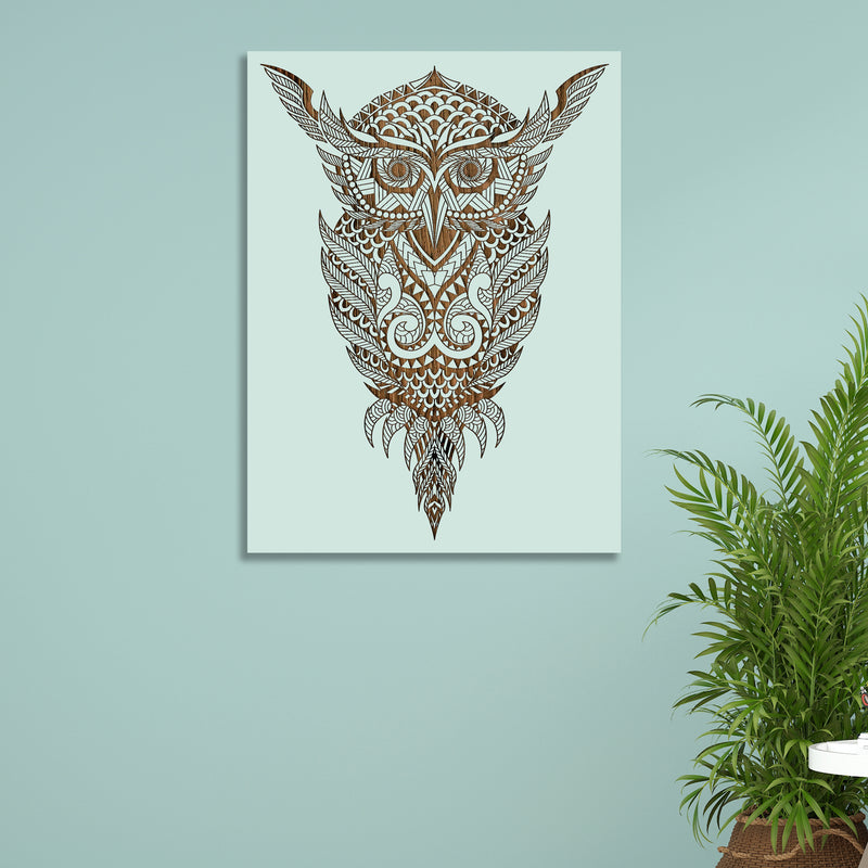 Geometric Owl Abstract