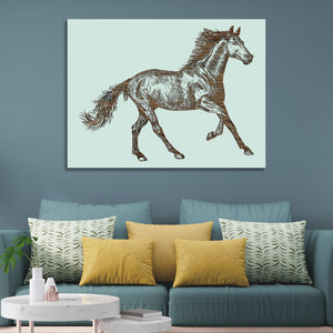 Horse Sketch Abstract