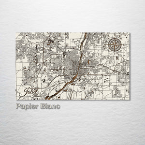 Joliet, Illinois Street Map - Fire & Pine