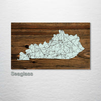 Kentucky Isolated Map - Fire & Pine