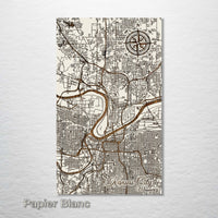 Kansas City, Missouri Street Map - Fire & Pine