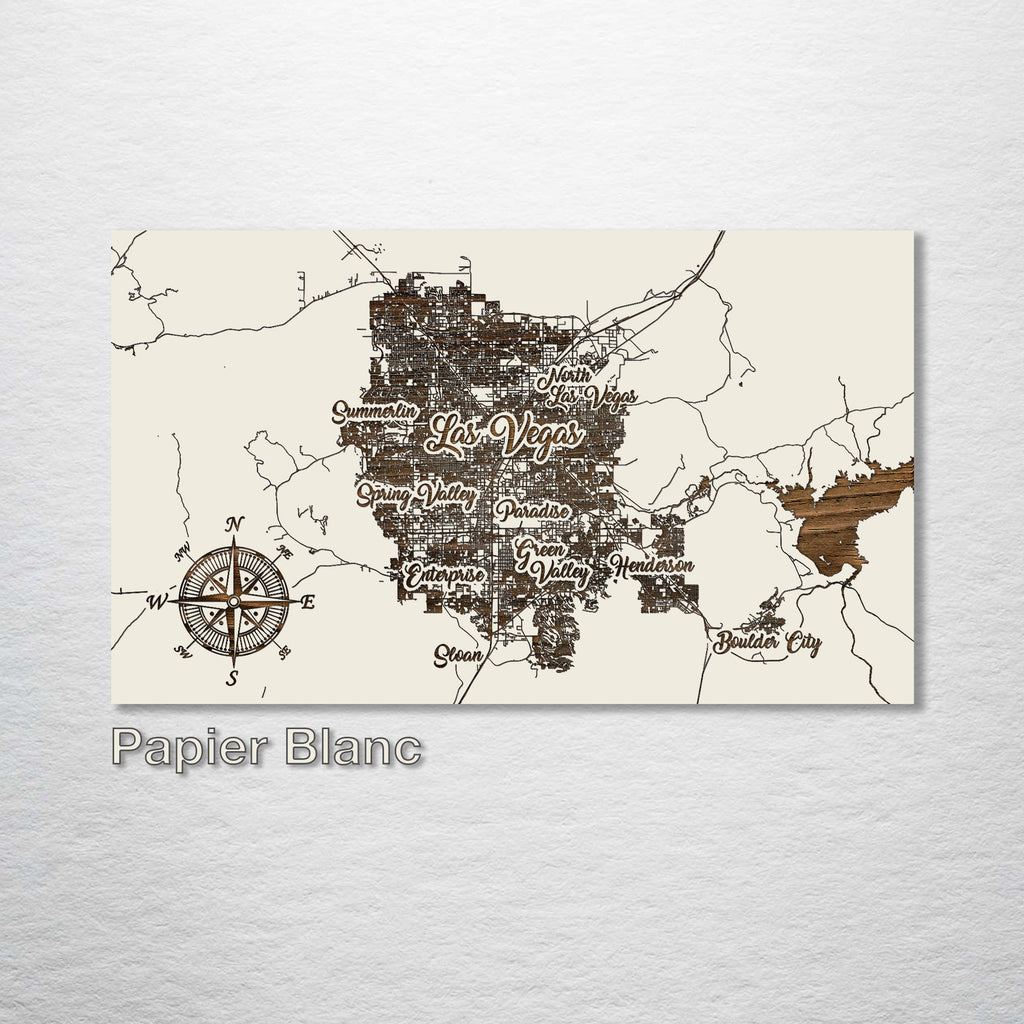 Las Vegas, Nevada Whimsical Map - Fire & Pine
