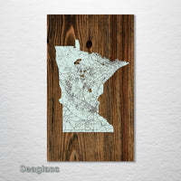 Minnesota Isolated Map - Fire & Pine