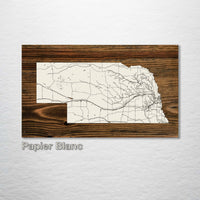 Nebraska Isolated Map - Fire & Pine