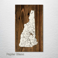 New Hampshire Isolated Map - Fire & Pine