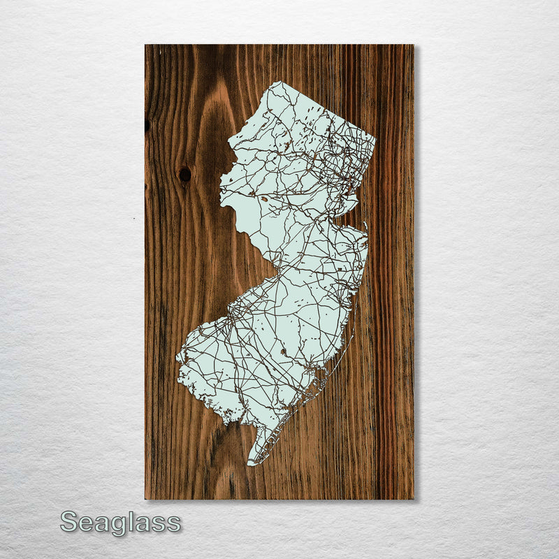 New Jersey Isolated Map - Fire & Pine