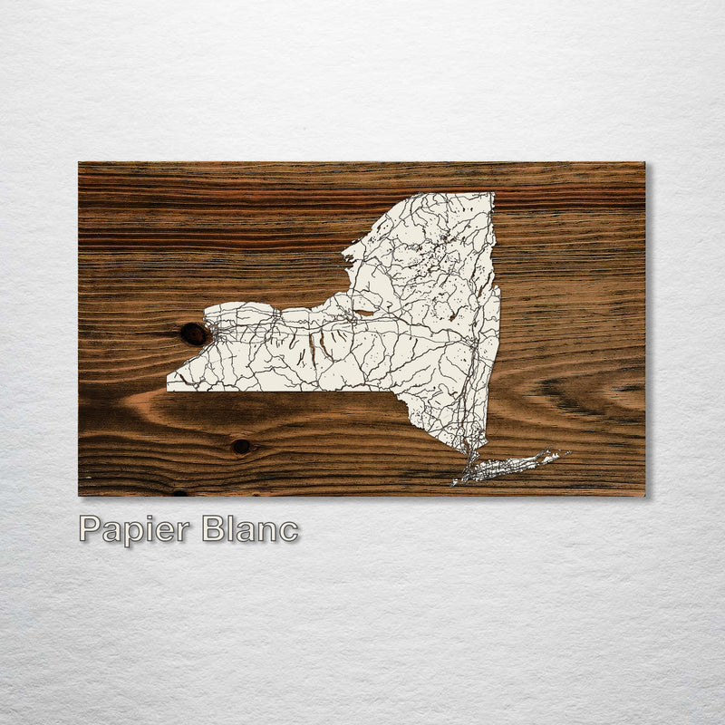 New York Isolated Map - Fire & Pine