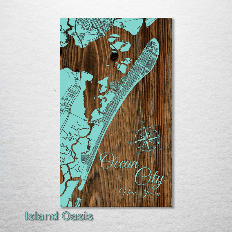 Ocean City, New Jersey Map - Fire & Pine