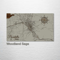 Pocatello, Idaho Street Map - Fire & Pine