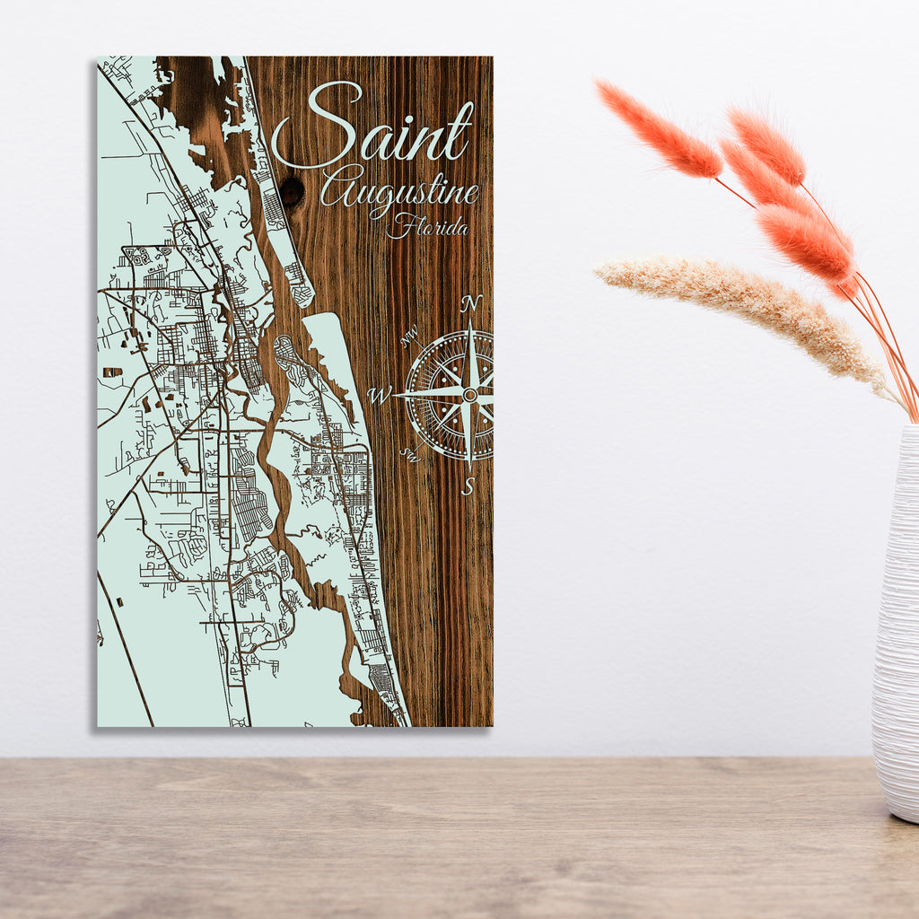 Saint Augustine, Florida Street Map - Fire & Pine