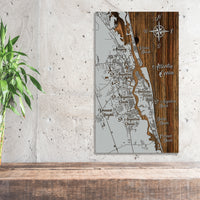 Saint Augustine, Florida Whimsical Map - Fire & Pine